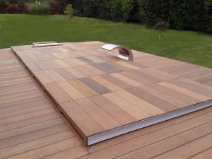 Couverture Hivernage en bois coulissante
