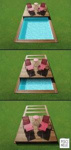 Couverture de piscine et terrasse coulissante pour l'hivernage