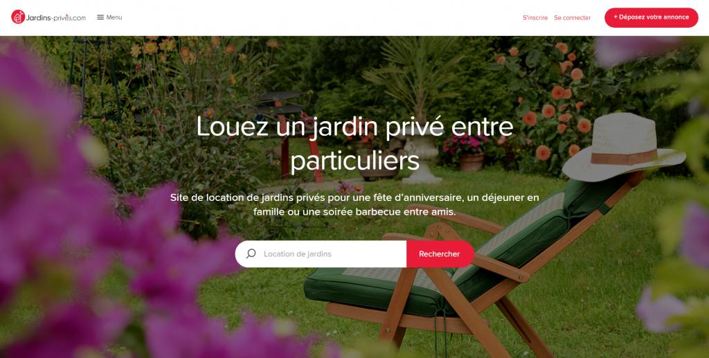 Page d'accueil de jardins-privés.com
